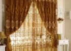 awesome brown accent drapes for contemporary living room decor ideas
