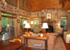 awesome country log cottage syle living rooms furniture set ideas