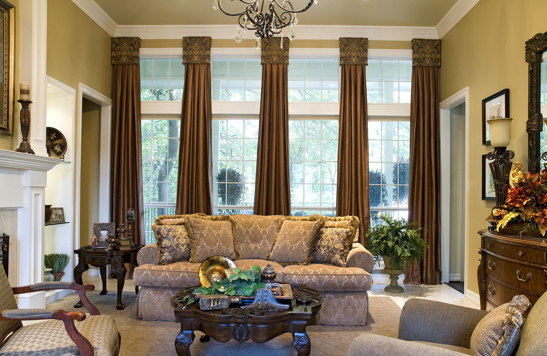 awesome living room ideas window treatments with large window treatments