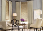 awesome living room with elegant custom window treatments ideas