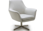 awesome white leather swivel chairs living room sitting area