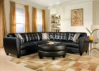 best black leather italian living room furniture sets