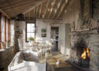 best country cottage style living rooms with stone fireplace decor