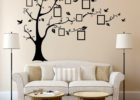 black family tree vinyl sticker for living room decorative wall decals