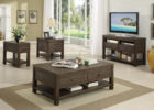 black wooden side tables with storage for awesome living room table set