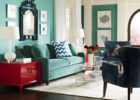 blue living room furniture sets with blue wall paint colors ideas