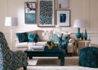 blue living room furniture with traditional living room sets