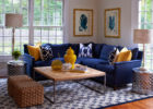 blue sofa living room furniture sets with small rattan living room chairs