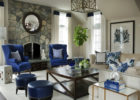 contemporary blue living room furniture sets with square coffee tables