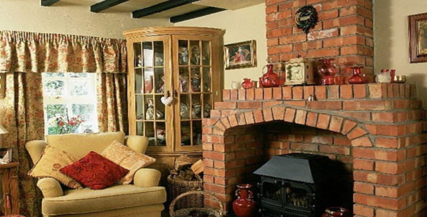 Bricks furniture Patio Country Cottage Style Living Rooms Furniture With Bricks Fireplace Country Cottage Style Living Rooms Furniture With Bricks Fireplace