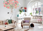 custom wall decals for living room wall decorating ideas