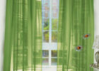 green modern window drapes for living room decor ideas