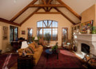 italian cottage style living room furniture with wood beam ceiling design