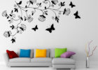 large flower wall decals for living room wall decorating ideas