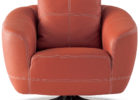luxury red leather swivel chairs living room furniture ideas