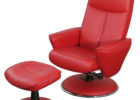luxury red leather swivel chairs living room sitting area ideas