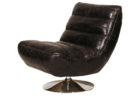 modern black leather swivel accent chairs living room furniture ideas