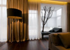 modern brown drapes for living room window treatments