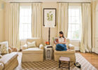 modern cream drapes for living room window treatments
