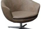 modern grey leather swivel accent chairs living room