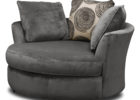 modern round grey swivel chairs living room furnitures