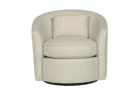 modern round white swivel chairs living room furniture with cushion