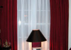 red white drapes for small modern living room decor ideas
