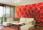 removable large wall decals for living room flower decals