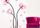 removeable flower living room decorative wall decals