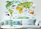 removeable world vinyl sticker living room decorative wall decals