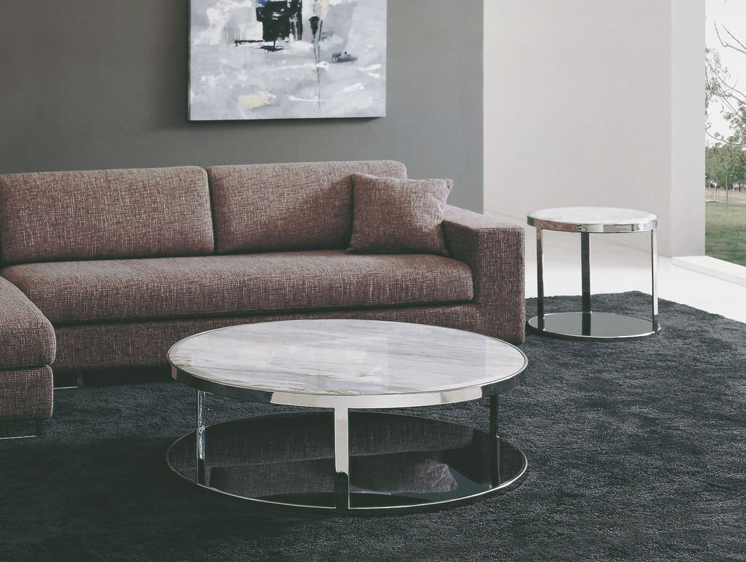 Round Marble Side Tables For Marble Round Coffee Table Living Room Raysa House