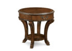 round wooden side tables with storage for vintage living room accent table ideas