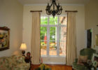 small living room ideas for sliding window treatments
