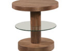 small round wood cherry end tables for small spaces living room