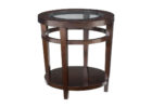 small round wooden end tables with glass on top for living room furniture ideas
