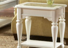 small white side tables for glass top coffee table living room