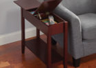 small wooden oak end tables with storage for living room side tables furniture