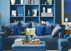 traditional blue living room furniture sets ideas