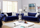tufted blue fabric italian sofa furniture set for living room furniture arrangements