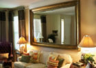 wood framed large mirrors for modern modern living room wall mirrors