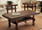wooden side tables for square coffee table living room