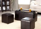 3 piece coffee table sets under $200 black leather