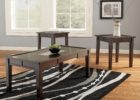3 piece coffee table sets under $200 black wood