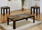 3 piece coffee table sets under $200 faux marble on top