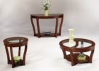 3 piece coffee table sets under $200 round glass on top