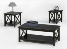 3 piece coffee table sets under $200 simply black