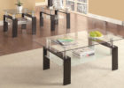 3 piece coffee table sets under $200 with glass on top