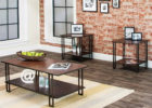 3 piece coffee table sets under $200 with metal legs
