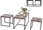 3 piece coffee table sets under $200 with metal legs design