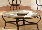 Ikea coffee table Uk with glass on top and metal legs